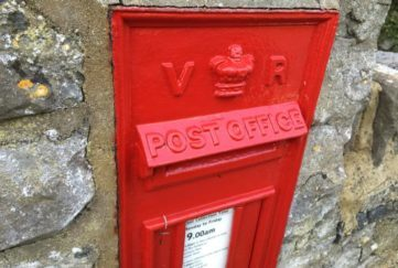 Lovely old Victorian postbox. down Catbrain Hill, Bristol.
