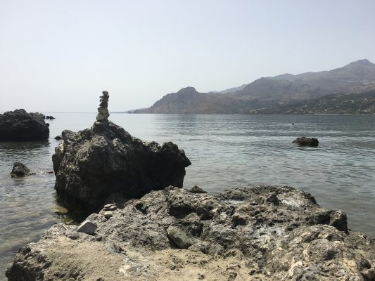 Another tower of stones, this time on a beach in Crete.
