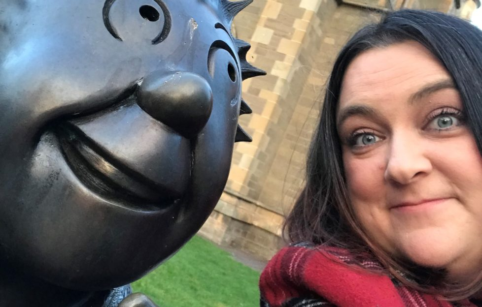 Lesley-Anne Johnston with Oor Wullie